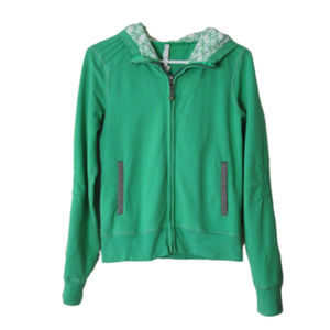 Lululemon bliss break green hoodie full zip